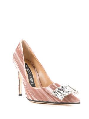 SERGIO ROSSI: scarpe décolleté online - Décolleté sr1 gioiello in velluto