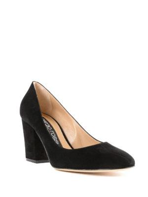 SERGIO ROSSI: scarpe décolleté online - Décolleté Virginia in camoscio nero