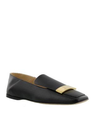 SERGIO ROSSI: Mocassini e slippers online - Mocassini con placca dorata