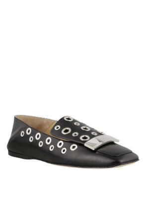 SERGIO ROSSI: Mocassini e slippers online - Mocassini con punta squadrata e occhielli