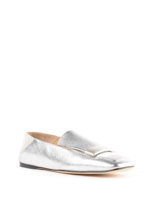 SERGIO ROSSI: Mocassini e slippers online - Slipper Sr1 in pelle argento
