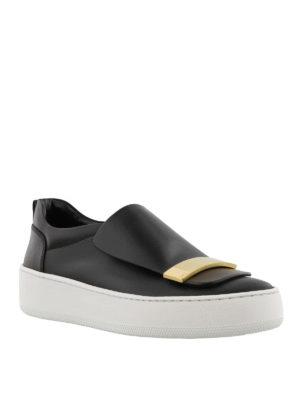 SERGIO ROSSI: sneakers online - Slip-on Addict con placca dorata