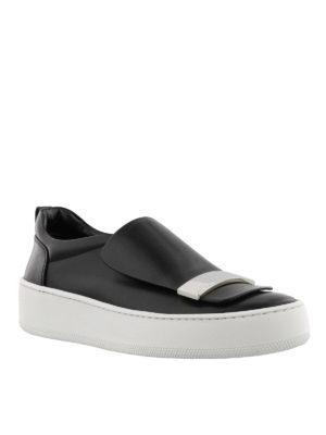 SERGIO ROSSI: sneakers online - Slip-on Addict con placca argentata