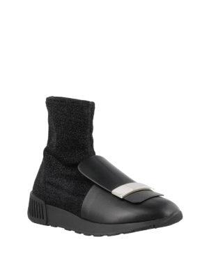 SERGIO ROSSI: sneakers online - Sneaker alta in nappa e lurex