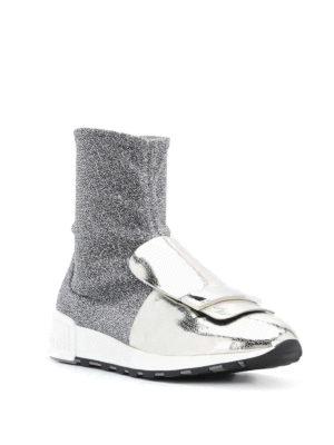 SERGIO ROSSI: sneakers online - Sneaker sr1 Running in tessuto effetto lurex