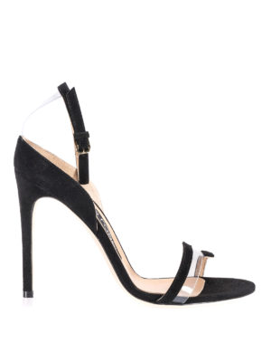 Sergio Rossi: sandals - Karen black suede sleek sandals