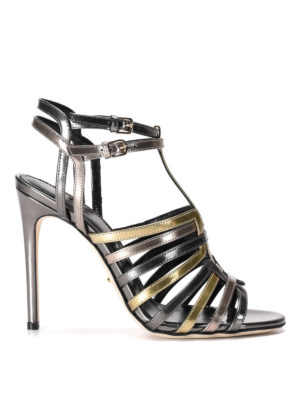 Sergio Rossi: sandals - Mirror patent leather high sandals