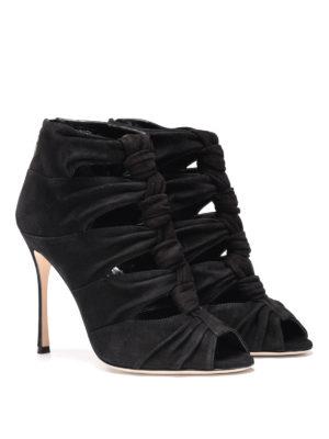Sergio Rossi: sandals online - Divine open toe suede sandals