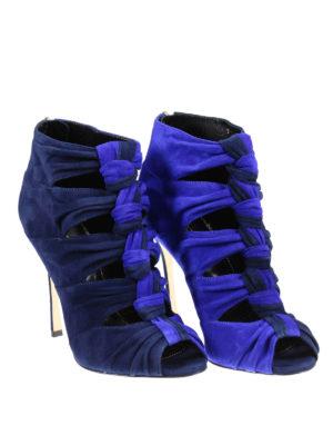 Sergio Rossi: sandals online - Divine woven suede sandals
