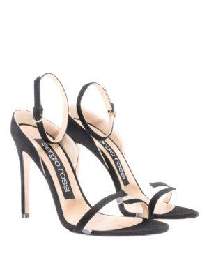 Sergio Rossi: sandals online - Karen black suede sleek sandals