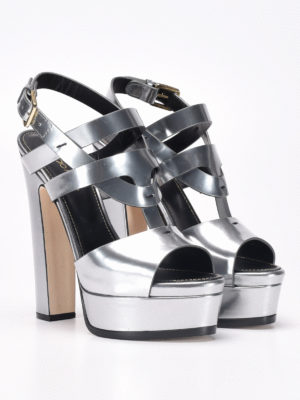 Sergio Rossi: sandals online - Leather sandals with platform
