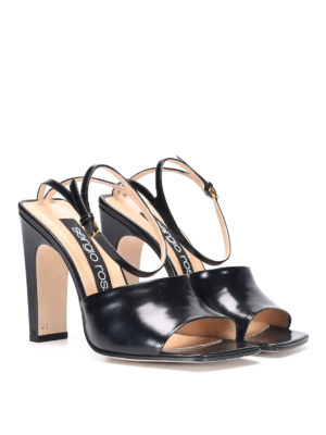 Sergio Rossi: sandals online - Leather sandals with stiletto heel