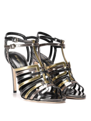 Sergio Rossi: sandals online - Mirror patent leather high sandals