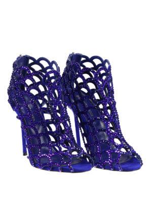 Sergio Rossi: sandals online - Tresor crystal cage sandals