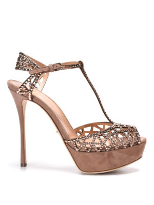 Sergio Rossi: sandals - Sandals with rhinestones