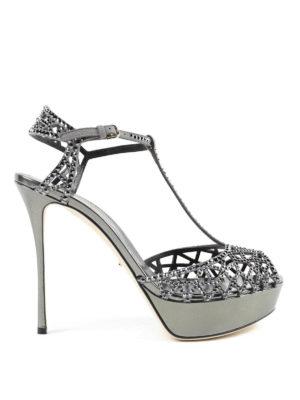Sergio Rossi: sandals - Tresor crystal slingback sandals