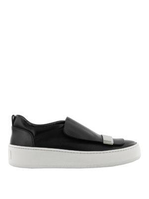 SERGIO ROSSI: sneakers - Slip-on Addict con placca argentata