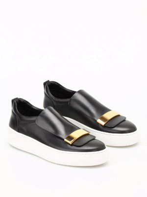 Sergio Rossi: trainers online - sr1 Addict leather slip-ons
