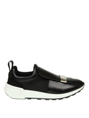 SERGIO ROSSI: sneakers - Sneaker sr1 Running in pelle e tessuto