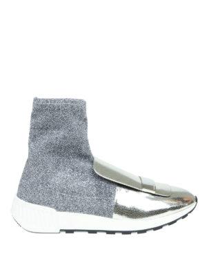 SERGIO ROSSI: sneakers - Sneaker sr1 Running in tessuto effetto lurex