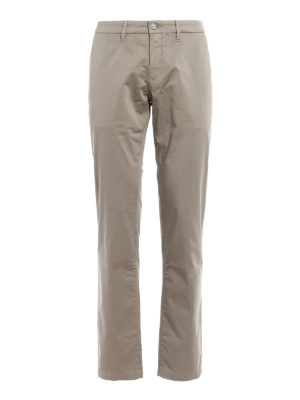 Siviglia: casual trousers - Beige cotton slack trousers