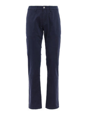 Siviglia: casual trousers - Blue cotton slack trousers