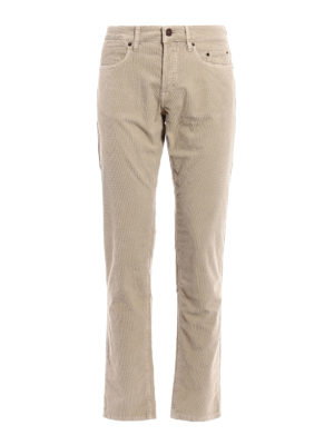 Siviglia: casual trousers - Micro patterned corduroy trousers
