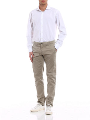 Siviglia: casual trousers online - Beige cotton slack trousers