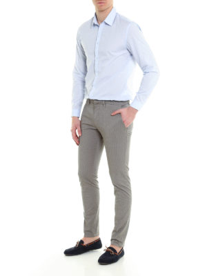 Siviglia: casual trousers online - Patterned cotton chino trousers