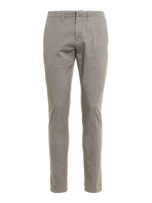 Siviglia: casual trousers - Patterned cotton chino trousers