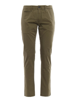 Siviglia: casual trousers - Stretch cotton chino trousers
