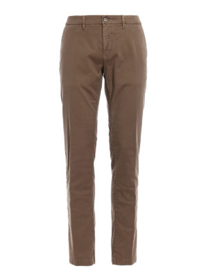 Siviglia: casual trousers - Stretch cotton chino trousers