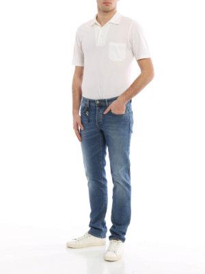 Siviglia: straight leg jeans online - Stretch cotton jeans