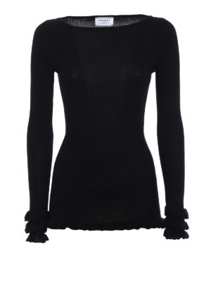 Snobby Sheep: boat necks - Ruched ribbed silk cashmere sweater