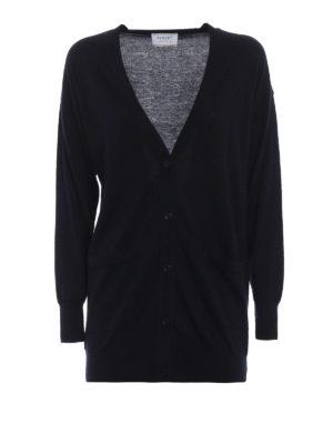 SNOBBY SHEEP: cardigan - Cardigan lungo in cashmere e seta blu