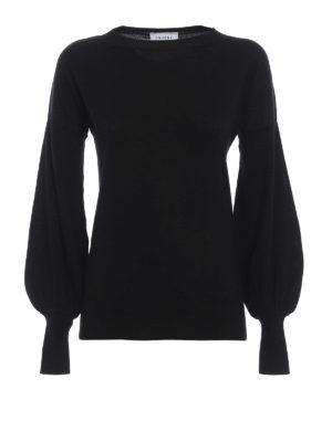 SNOBBY SHEEP: maglia collo rotondo - Pullover in seta misto cashmere nero