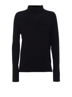 Snobby Sheep: Turtlenecks & Polo necks - Black silk and cashmere turtleneck