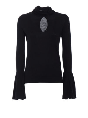 Snobby Sheep: Turtlenecks & Polo necks - Black turtleneck with bell cuffs