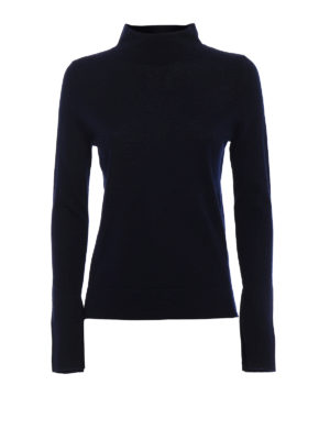 Snobby Sheep: Turtlenecks & Polo necks - Blue silk and cashmere turtleneck