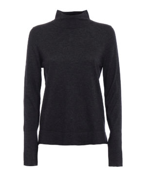 Snobby Sheep: Turtlenecks & Polo necks - Grey silk and cashmere turtleneck