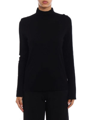 Snobby Sheep: Turtlenecks & Polo necks online - Black silk and cashmere turtleneck