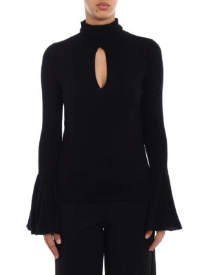 Snobby Sheep: Turtlenecks & Polo necks online - Black turtleneck with bell cuffs