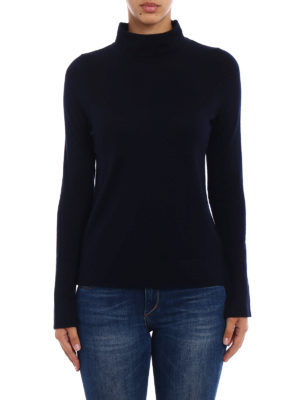Snobby Sheep: Turtlenecks & Polo necks online - Blue silk and cashmere turtleneck
