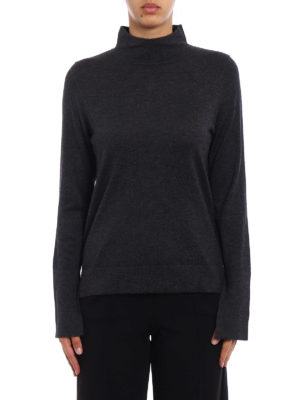 Snobby Sheep: Turtlenecks & Polo necks online - Grey silk and cashmere turtleneck