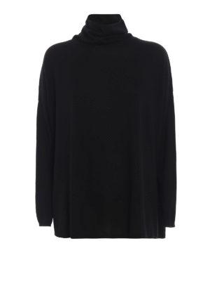 SNOBBY SHEEP: maglia a collo alto e polo - Pull oversize nero con collo ad anello