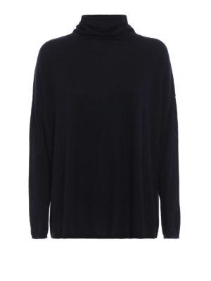SNOBBY SHEEP: maglia a collo alto e polo - Pull oversize blu scuro con collo ad anello