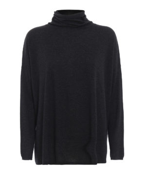 SNOBBY SHEEP: maglia a collo alto e polo - Pull oversize grigio con collo ad anello