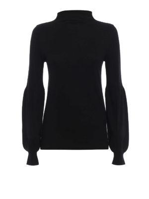 SNOBBY SHEEP: maglia a collo alto e polo - Leggero pullover nero con collo ad anello