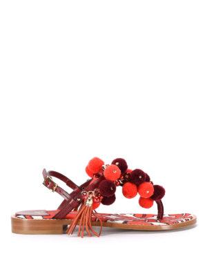 Sofia M.: sandals - Erica pompom sandals