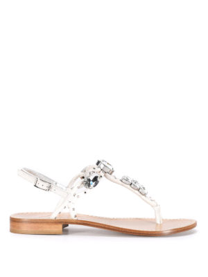 Sofia M.: sandals - Maxi rhinestones thong sandals